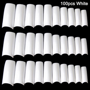 100/500pcs Nails Half French False Nail Art Tips Acrylic UV Gel Manicure Tip  MPwell