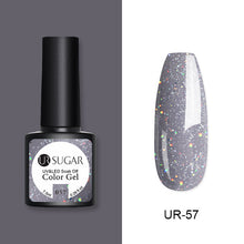 Load image into Gallery viewer, Azúcar UR 7,5 ml brillo esmalte de uñas de Gel UV brillo lentejuelas Soak Off UV Gel barniz colorido uñas Gel polaco DIY Nail Art Polish
