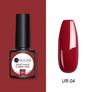 Azúcar UR 7,5 ml brillo esmalte de uñas de Gel UV brillo lentejuelas Soak Off UV Gel barniz colorido uñas Gel polaco DIY Nail Art Polish