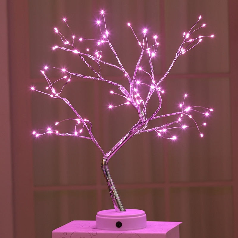 Christmas LED Mini Tree Pink Lights Christmas LED Mini Tree