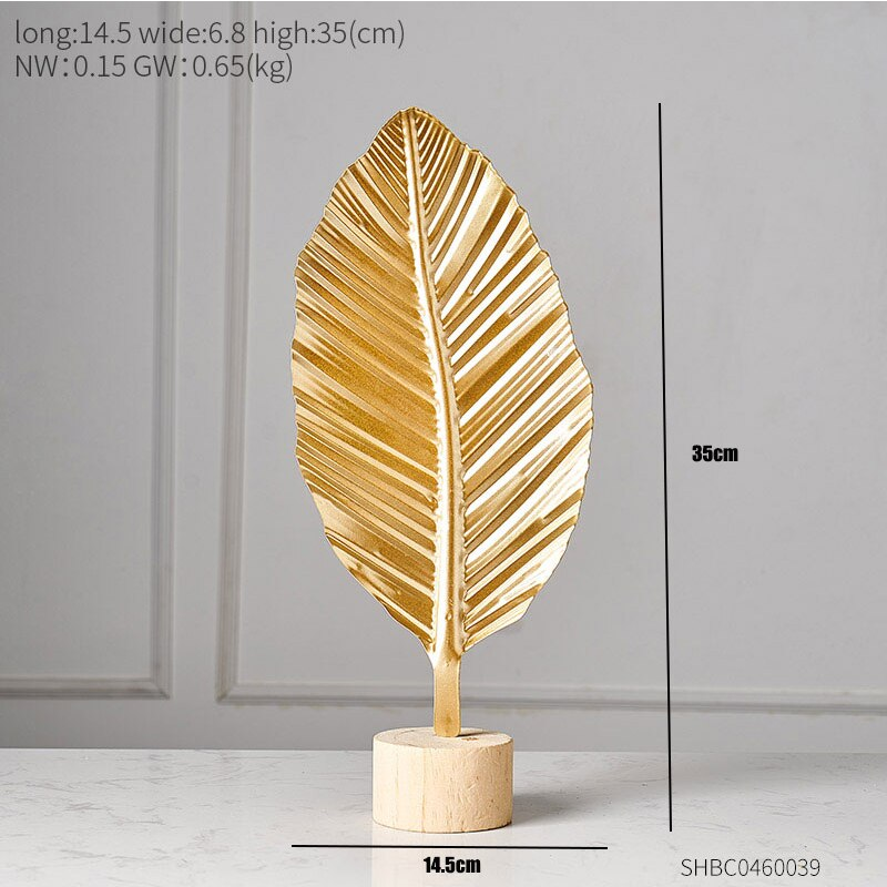 Creative Gold Leaves For home decoration Deco 1 ornaments Creative Gold Leaves For home decoration