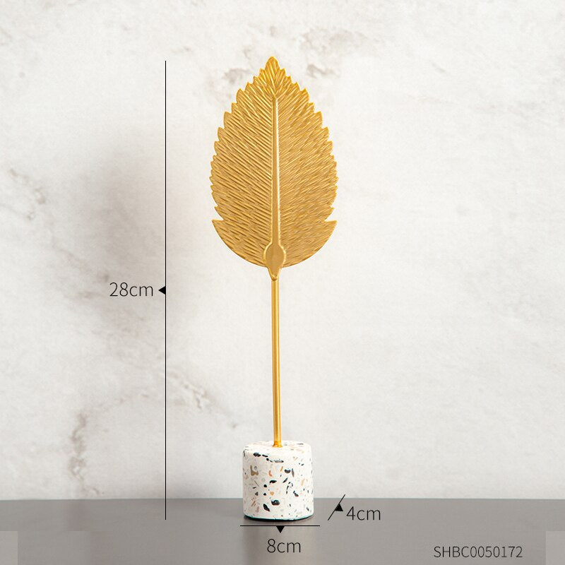 Creative Gold Leaves For home decoration Deco 6 ornaments Creative Gold Leaves For home decoration