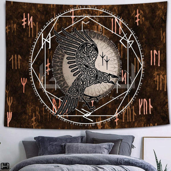 Black Crow Wall Tapestry By Obelkir Wall Tapestry Black Crow Wall Tapestry By Obelkir