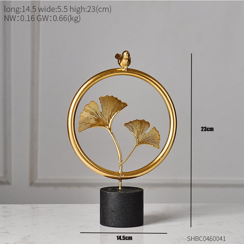 Creative Gold Leaves For home decoration Deco 2 ornaments Creative Gold Leaves For home decoration