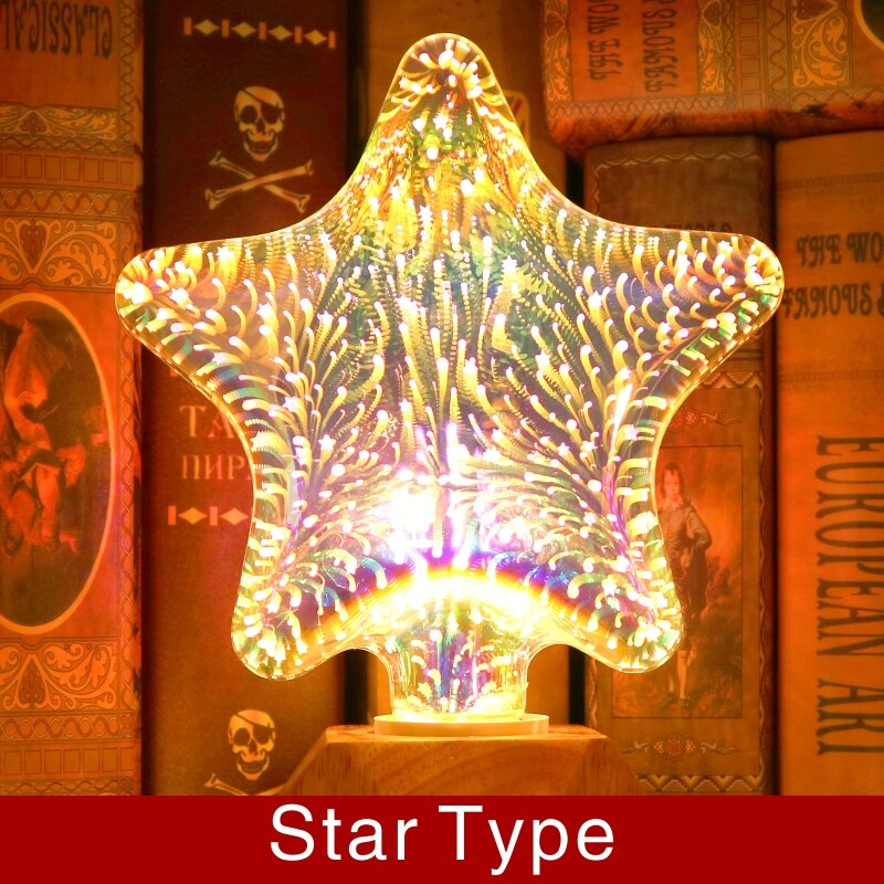 Bulba - 3D Decoration LED Bulb Star Lights Bulba - 3D Decoration LED Bulb