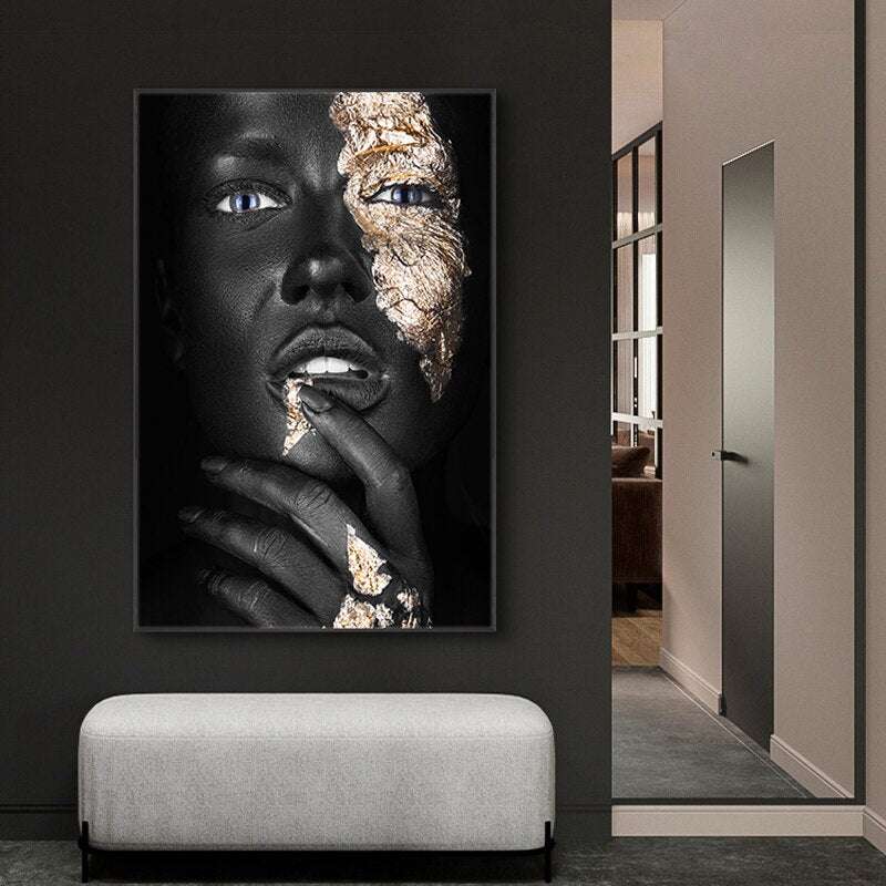 Thinking Face Wall Art Canvas Art print Thinking Face Wall Art Canvas