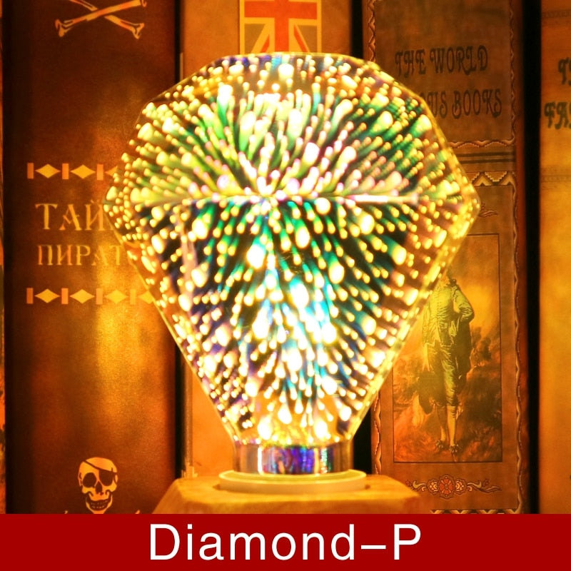 Bulba - 3D Decoration LED Bulb Diamond-P Lights Bulba - 3D Decoration LED Bulb