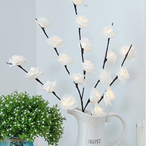Floral LED Willow Branch White Rose Lights Floral LED Willow Branch