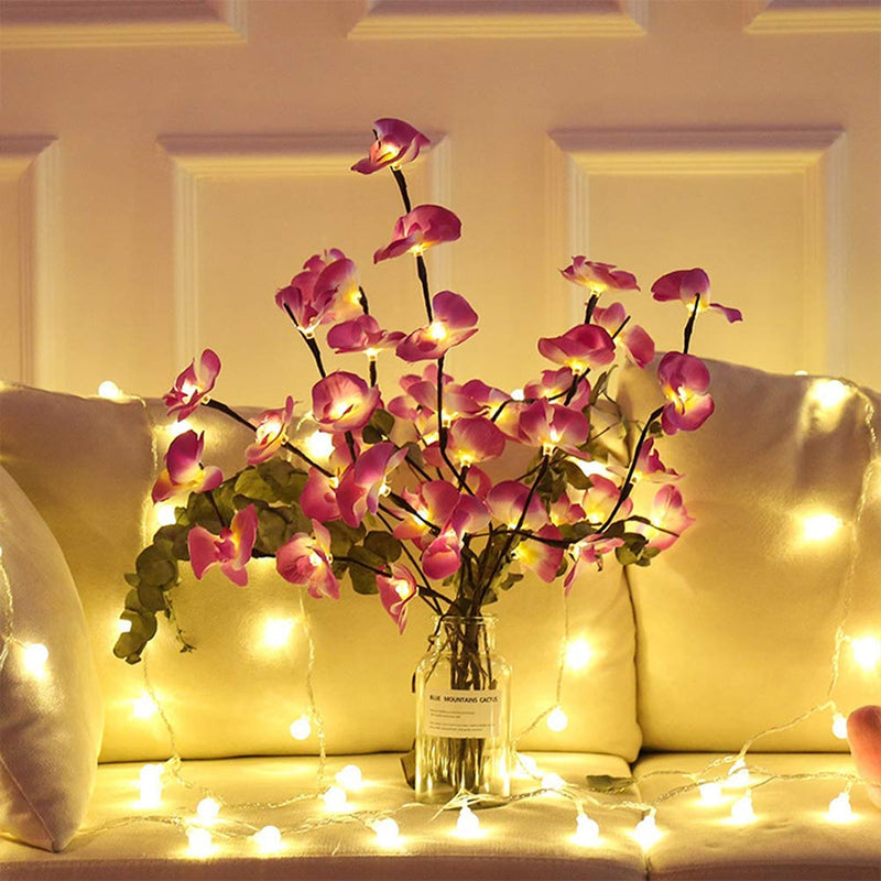 Floral LED Willow Branch Pink Orchid Lights Floral LED Willow Branch