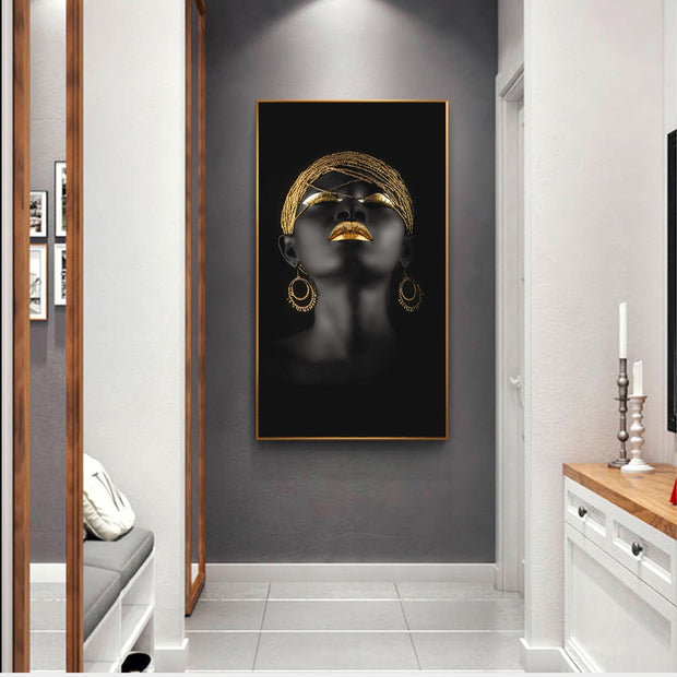 Golden Lady Canvas Wall Art Collection - OBELKIR
