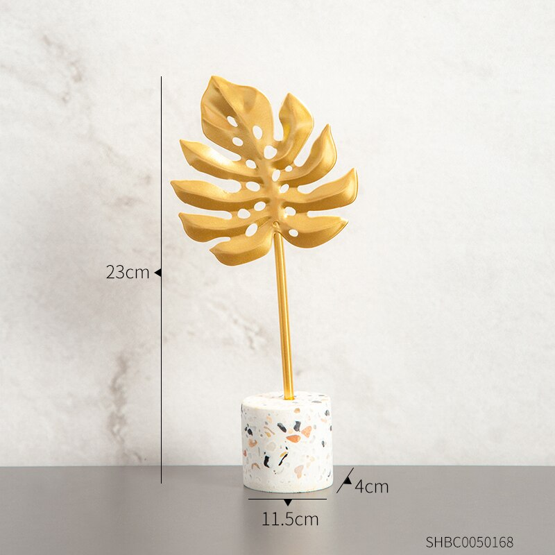 Creative Gold Leaves For home decoration Deco 5 ornaments Creative Gold Leaves For home decoration
