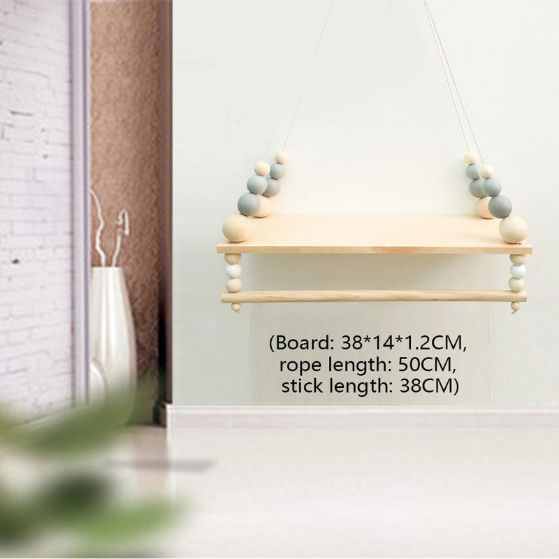 Wooden Wall Shelf With Clothes Rack wall shelf Wooden Wall Shelf With Clothes Rack