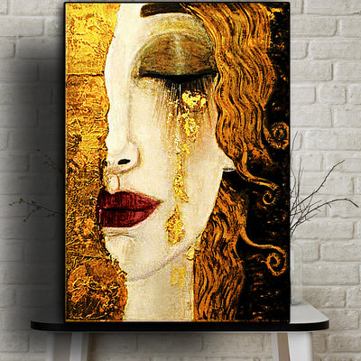 Gold Tears Wall Art Canvas - OBELKIR
