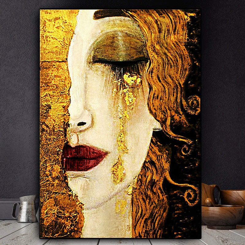 Gold Tears Wall Art Canvas Art print Gold Tears Wall Art Canvas