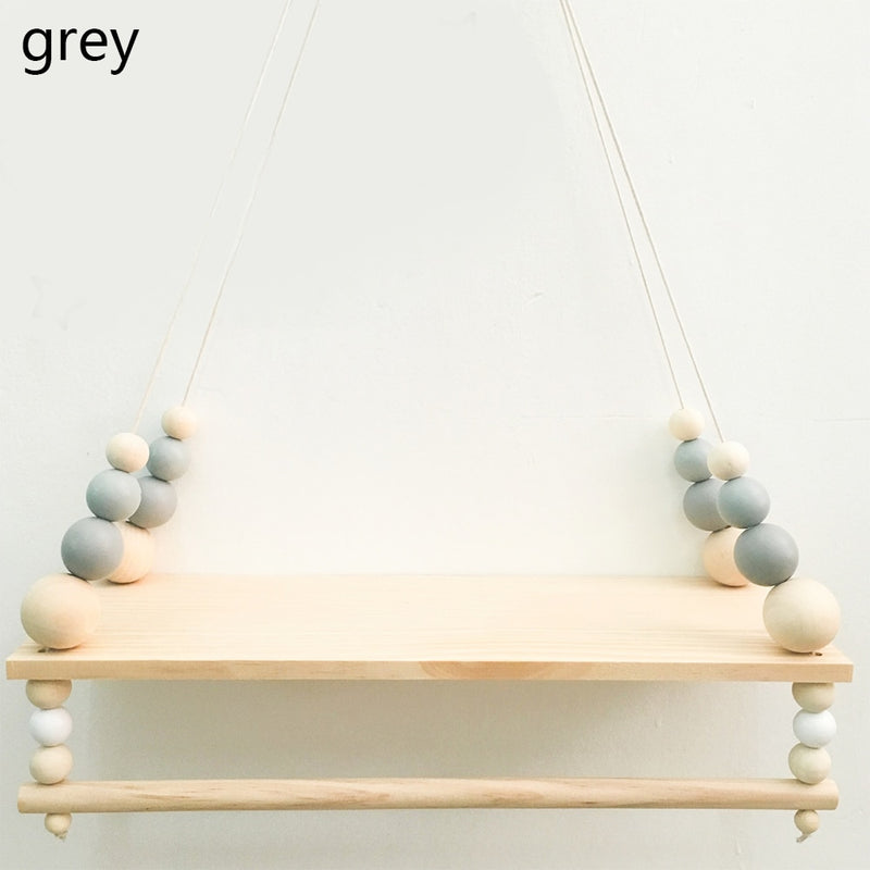 Wooden Wall Shelf With Clothes Rack gray wall shelf Wooden Wall Shelf With Clothes Rack