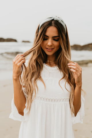 Knot Headband with Long Hair and a Dress
