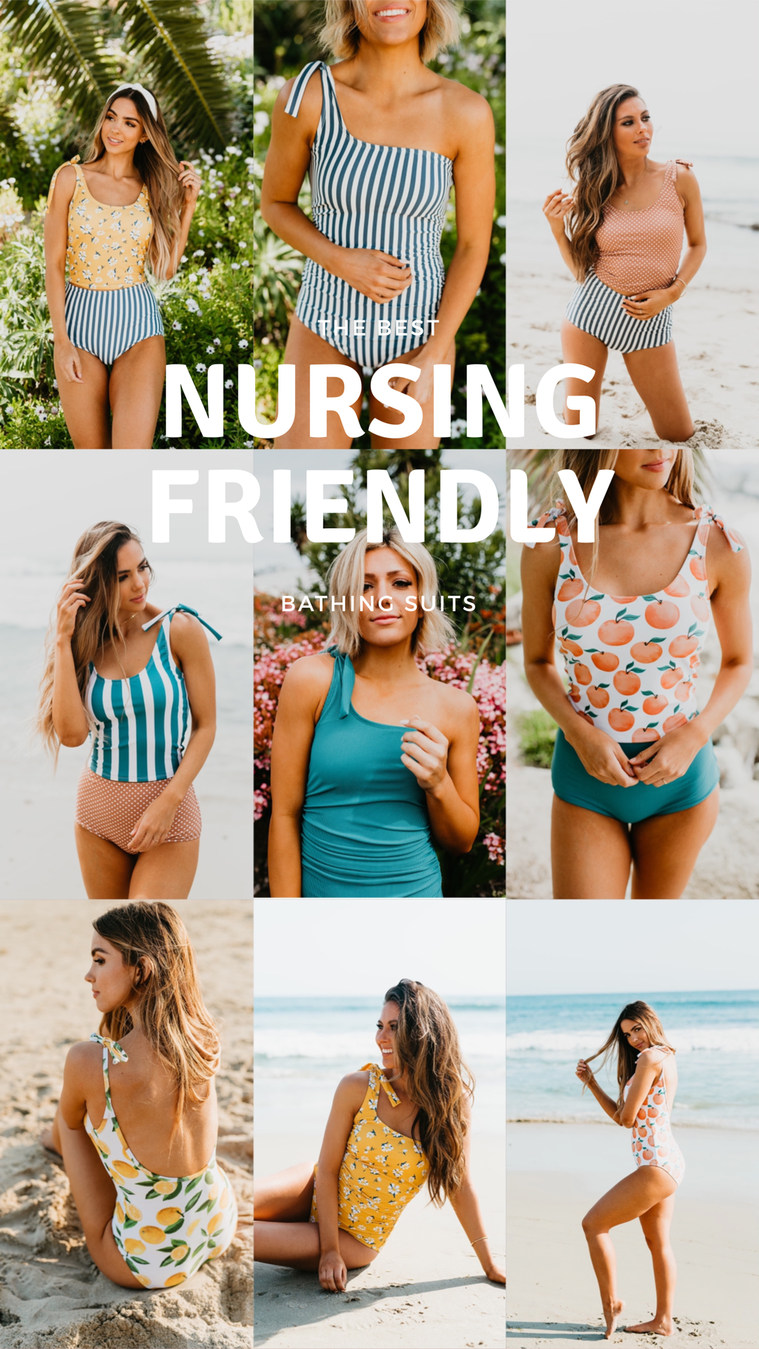 nursing frienly bathing suit