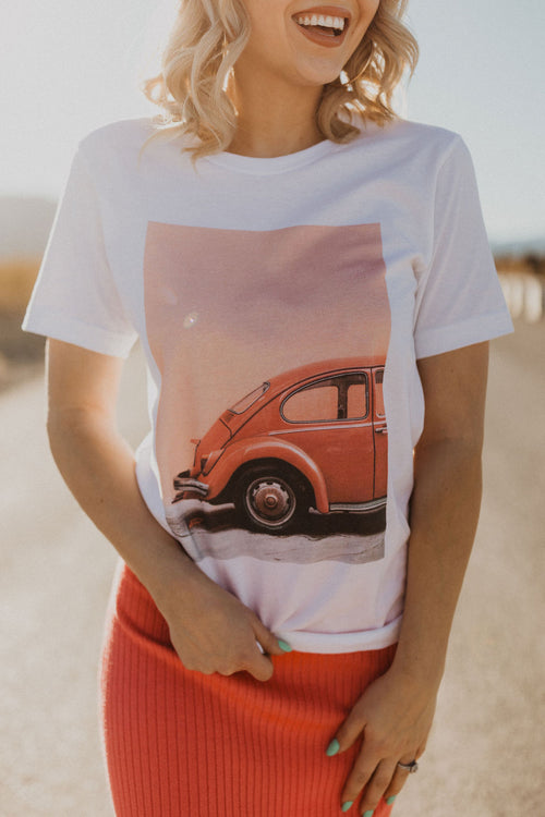 THE VINTAGE VOLKSWAGEN GRAPHIC TEE IN WHITE