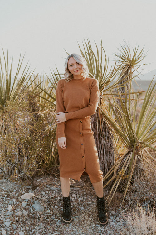 THE CENTENNIAL PARK KNIT SKIRT IN CAMEL