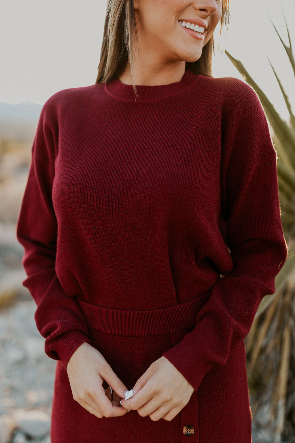 THE CENTENNIAL PARK SWEATER IN BURGUNDY