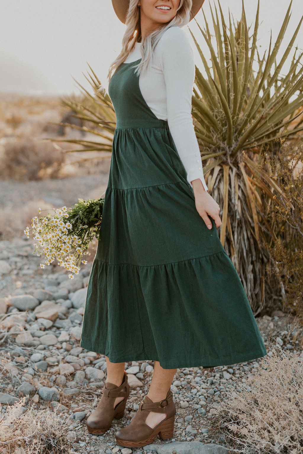 THE BETTER THAN EVER OVERALL DRESS IN HUNTER