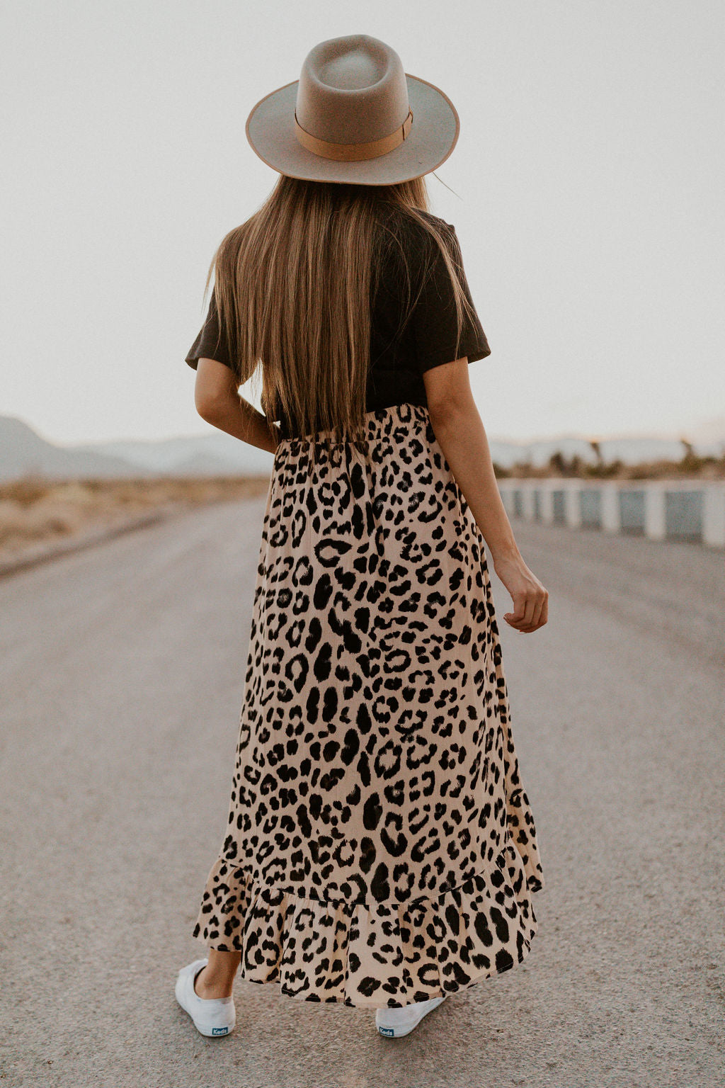 THE ARYA WRAP SKIRT IN BEIGE LEOPARD