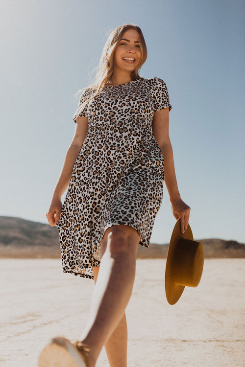 THE LELANI MIDI DRESS IN LEOPARD