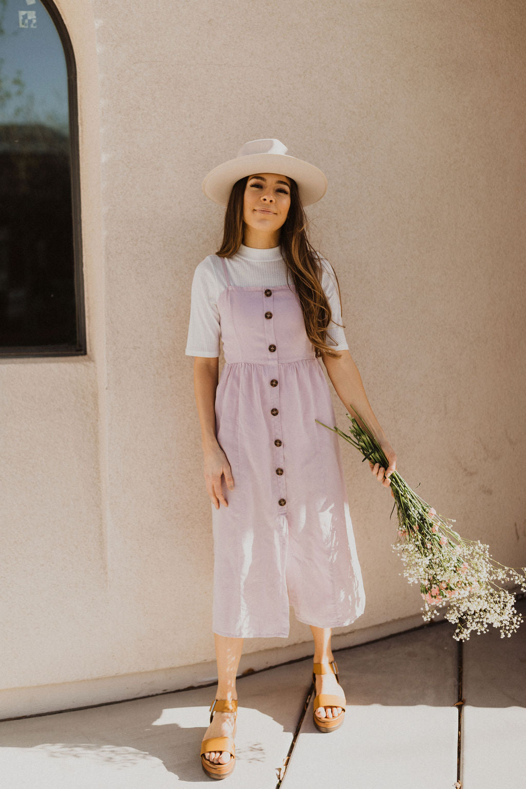 THE CHENEY SLEEVELESS DRESS IN LILAC