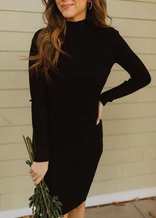 THE PITCH BLACK SWEATER DRESS