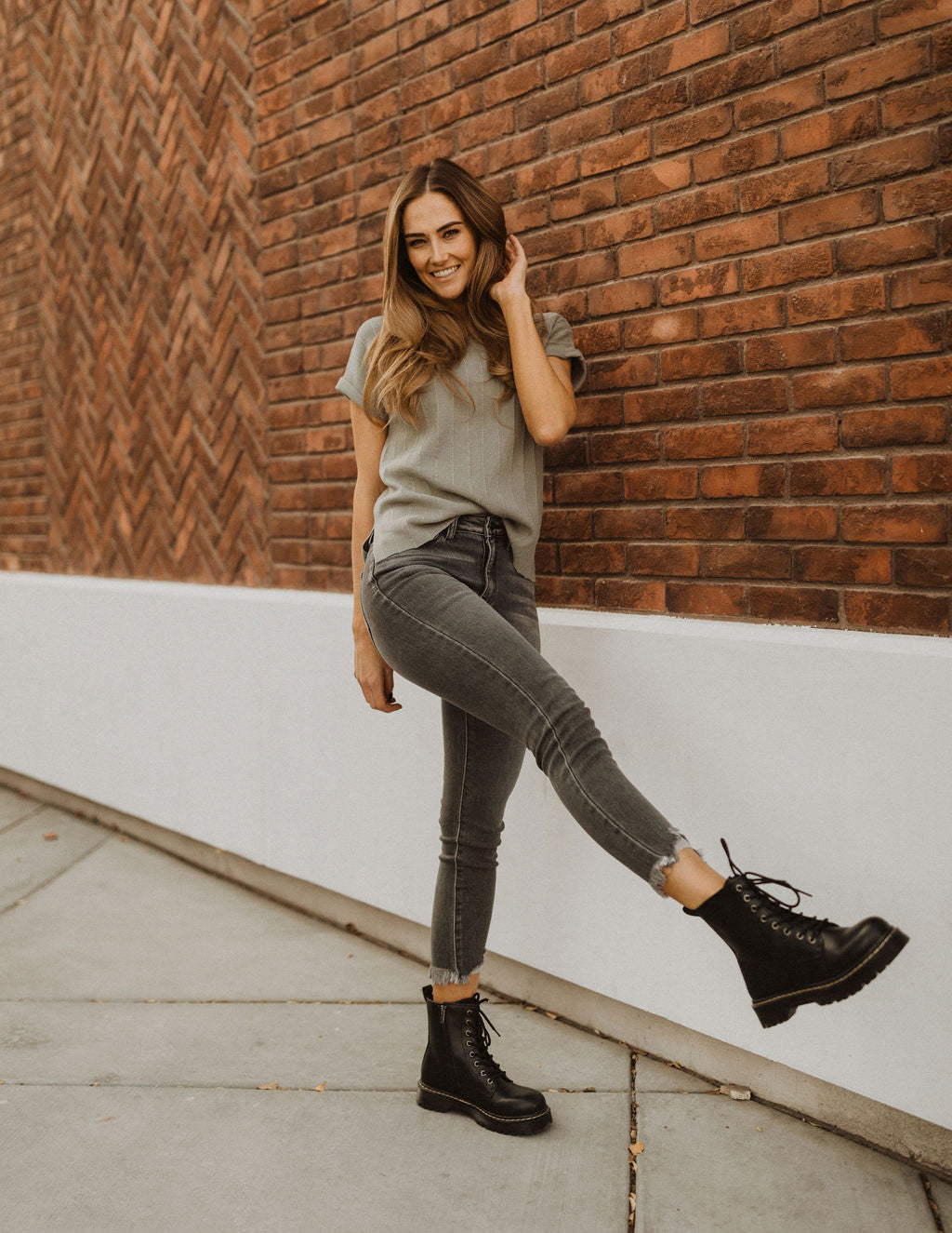 THE NASHVILLE HIGH RISE ANKLE SKINNY JEANS IN WASHED BLACK