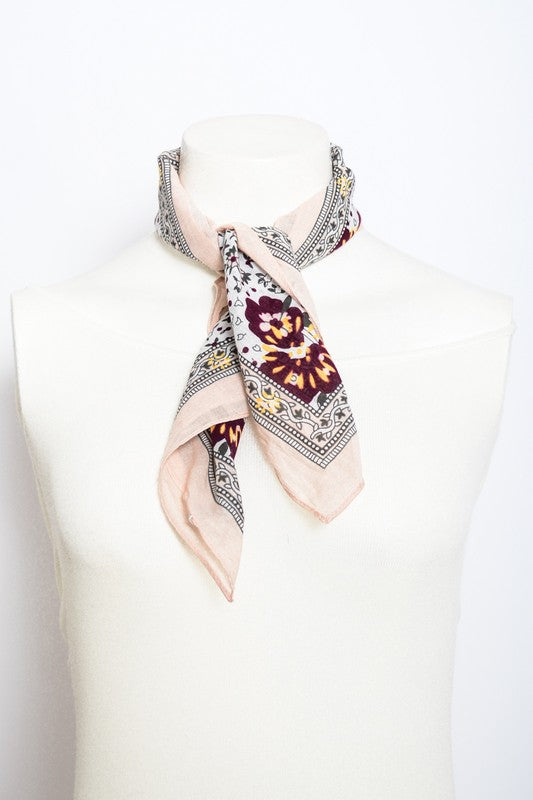 THE ORCHID FLORAL BANDANA