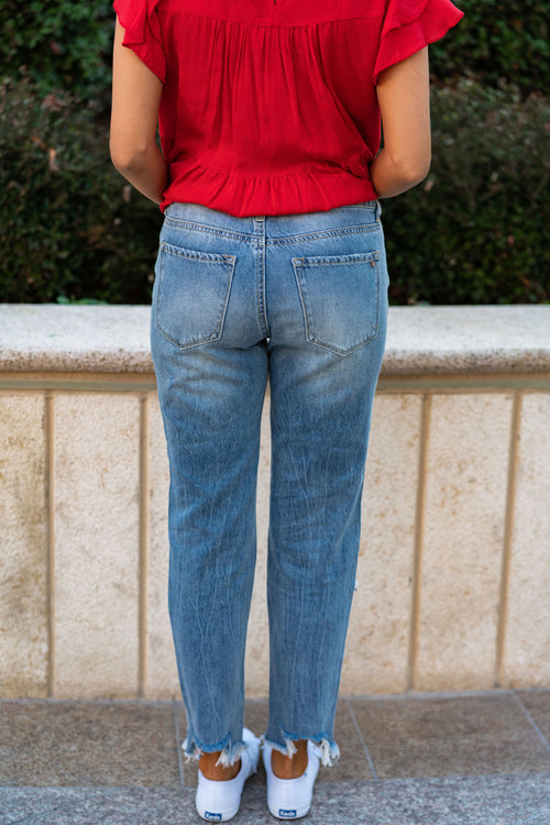 THE BLAKE DISTRESSED JEAN IN LIGHT DENIM