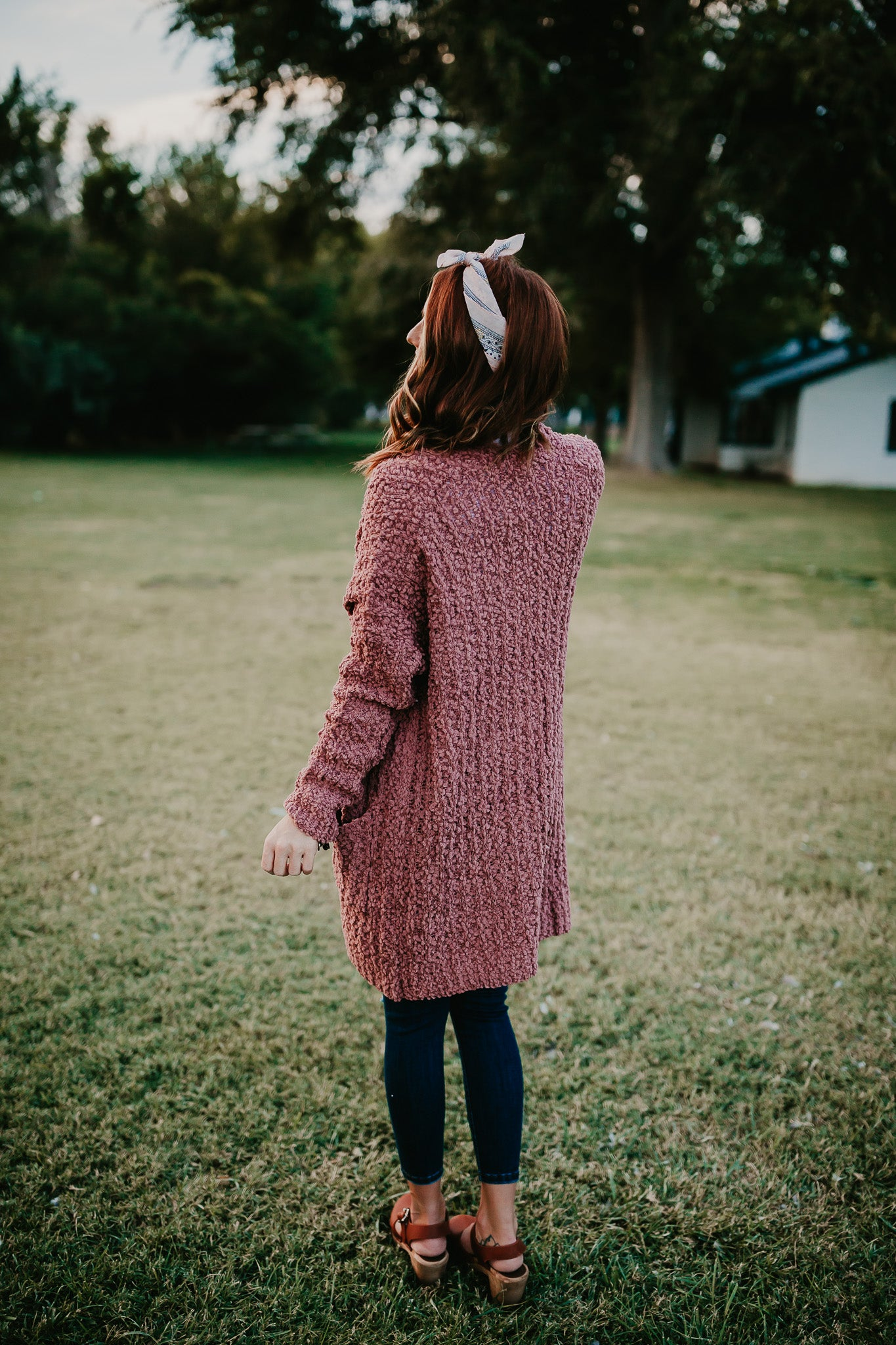THE CEDAR CARDIGAN IN DUSTY ROSE