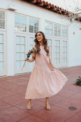 THE PEONY MIDI DRESS IN BLUSH