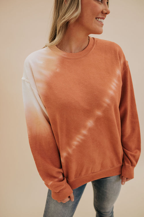 THE TUCSON TIE DYE PULLOVER IN DUSTY CORAL