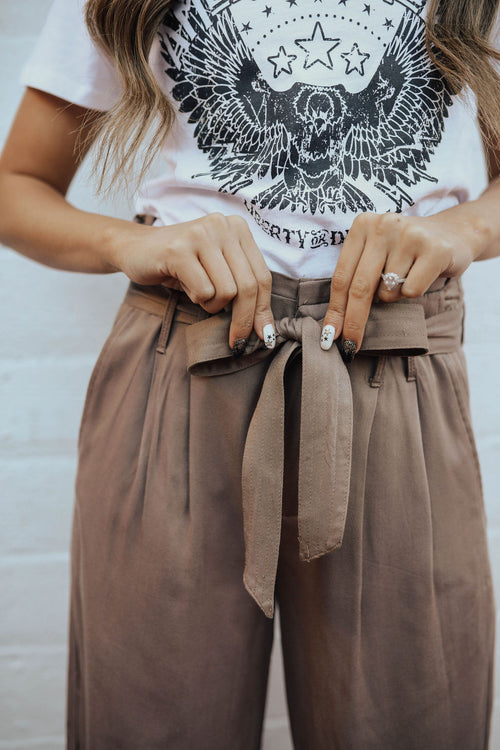 THE MOCHA HIGH WAISTED PANT