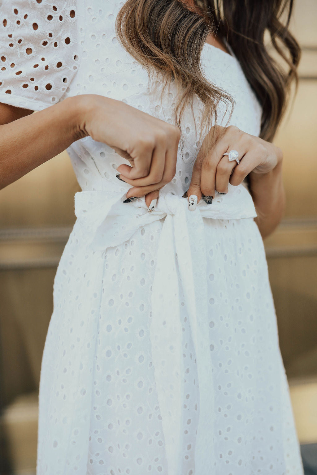 THE WITHERSPOON EYELET DRESS BY PINK DESERT