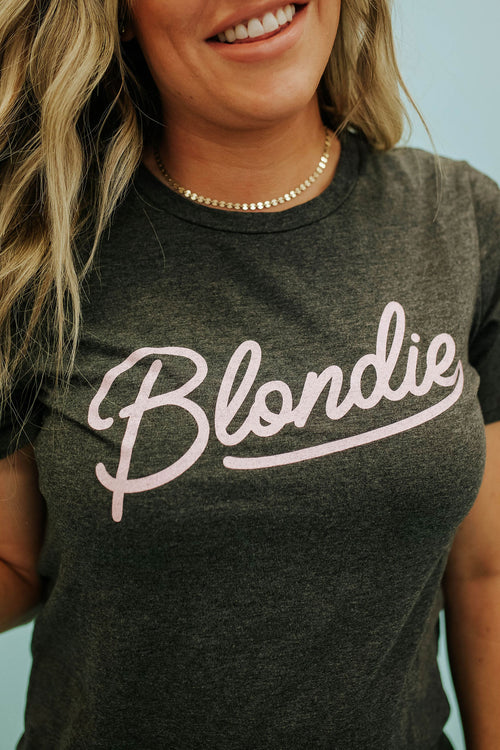 THE BLONDIE GRAPHIC TEE IN CHARCOAL