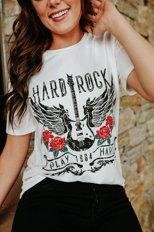 THE HARD ROCK GRAPHIC TEE IN WHITE