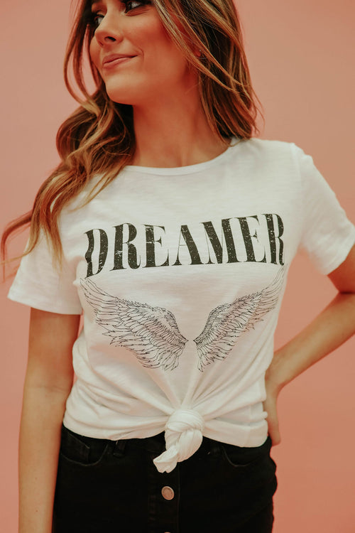 THE DREAMER WING GRAPHIC TEE IN WHITE