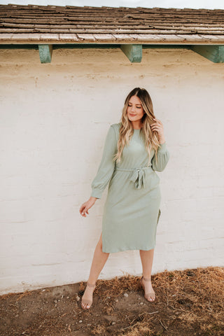 THE MESA DOUBLE BUTTON BLAZER IN SAGE