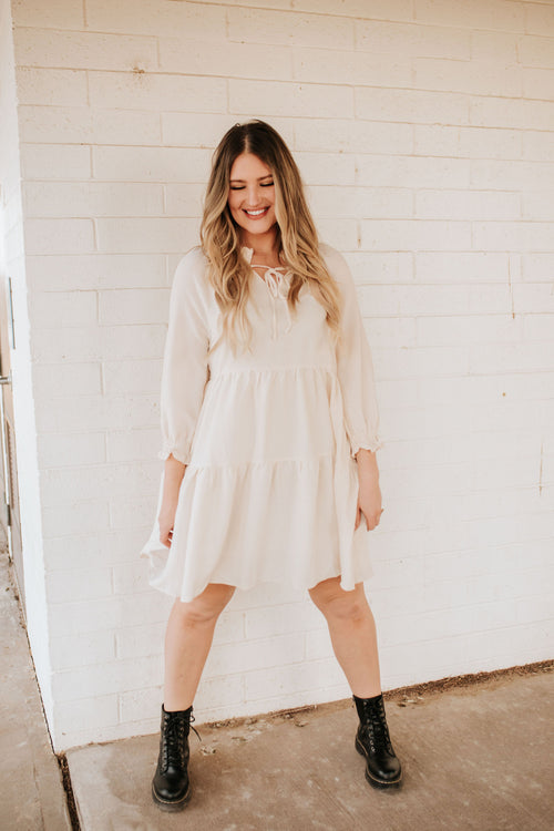 THE BREXLEY BABYDOLL DRESS IN CREAM