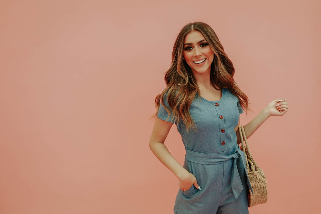 THE CHANNING CHAMBRAY JUMPER BY PINK DESERT