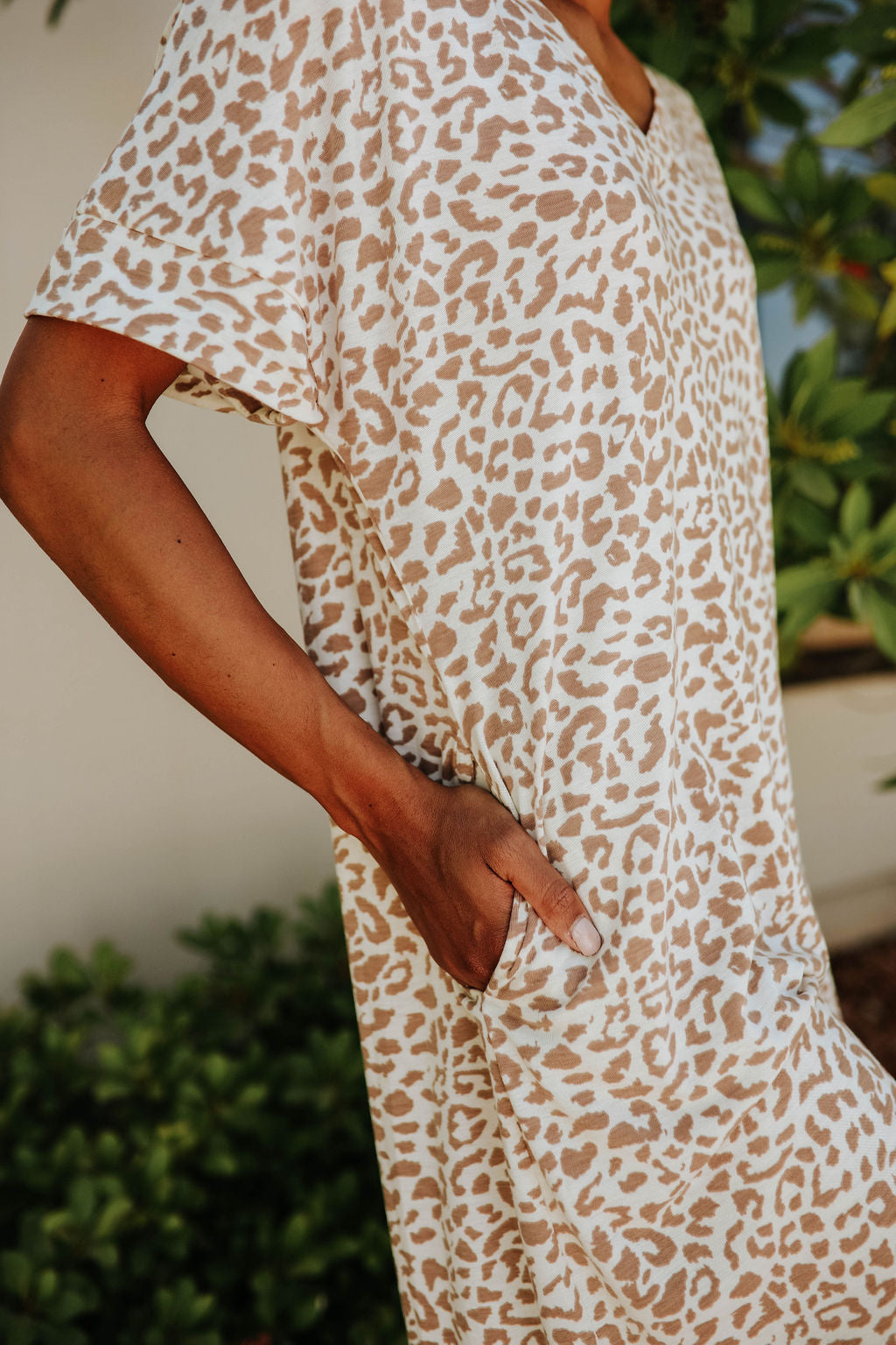 THE INDIE LEOPARD DRESS IN IVORY