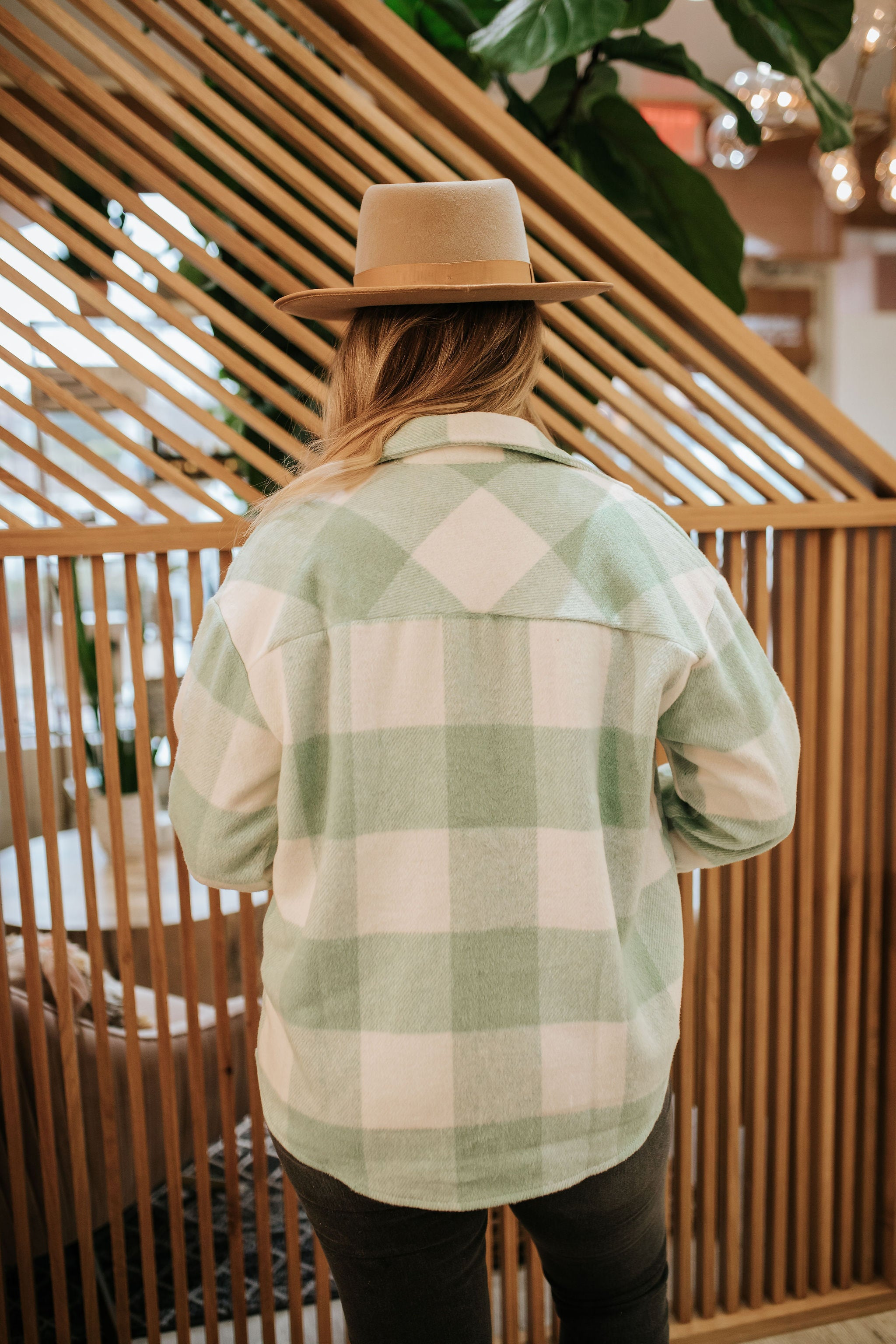 THE MARSHALL PLAID SHACKET IN MINT