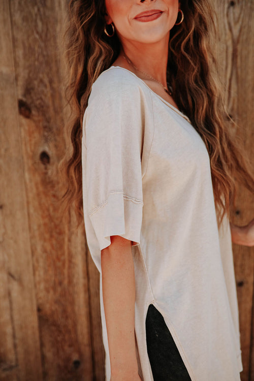 THE BELLA-ROSE TOP IN BEIGE