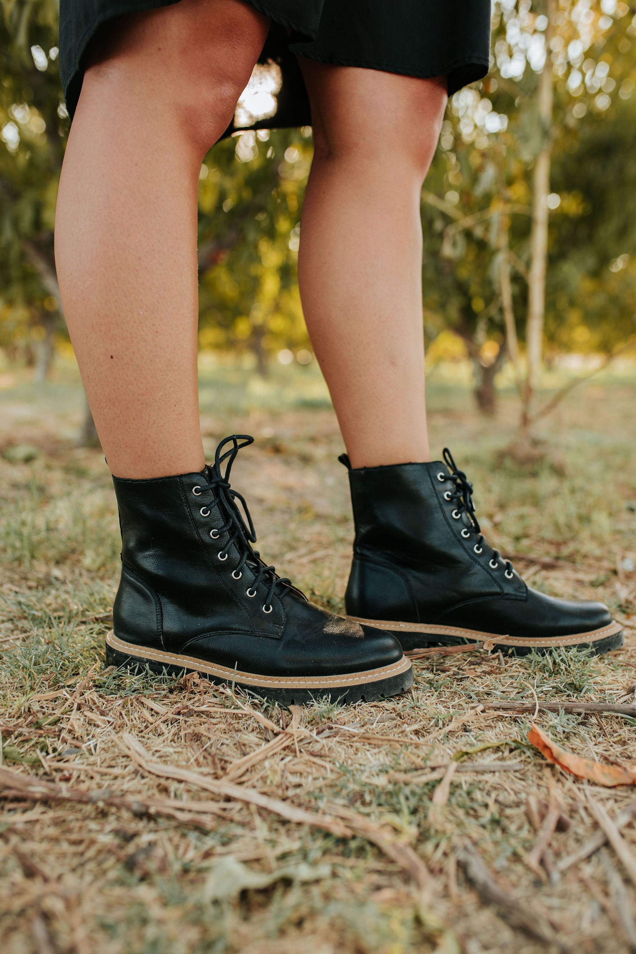 THE DREW MILITARY BOOT IN BLACK