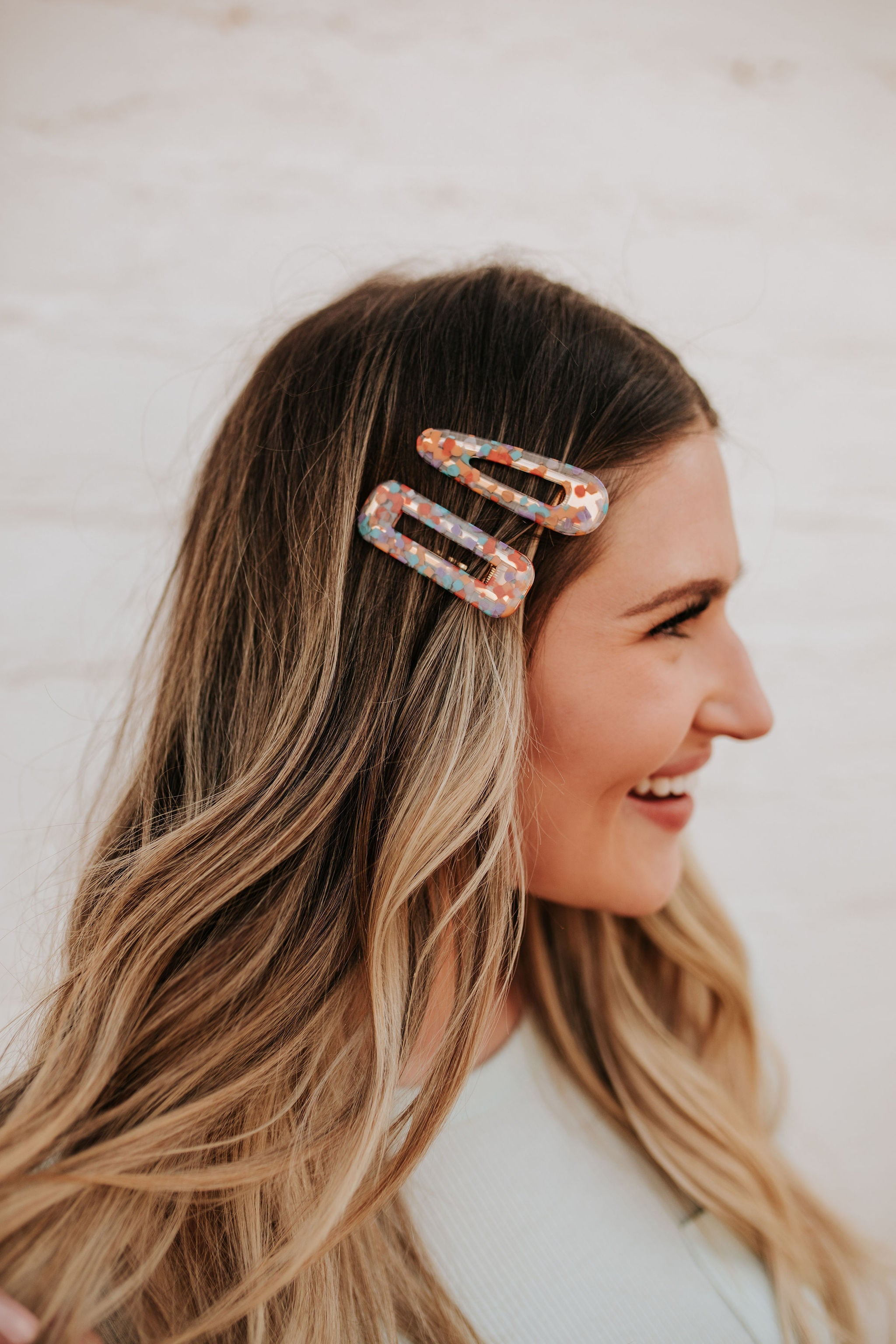 THE CONFETTI PRINT HAIR CLIP