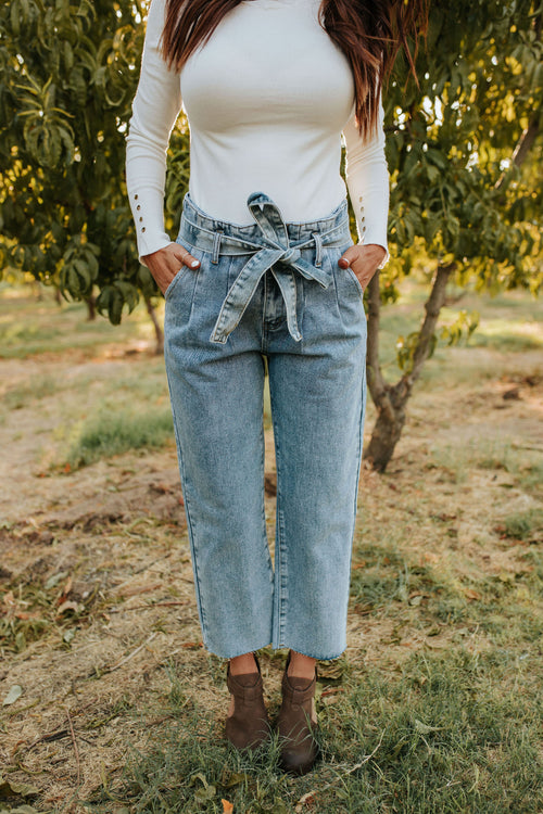 THE HARD TO FORGET PAPERBAG WAIST JEANS