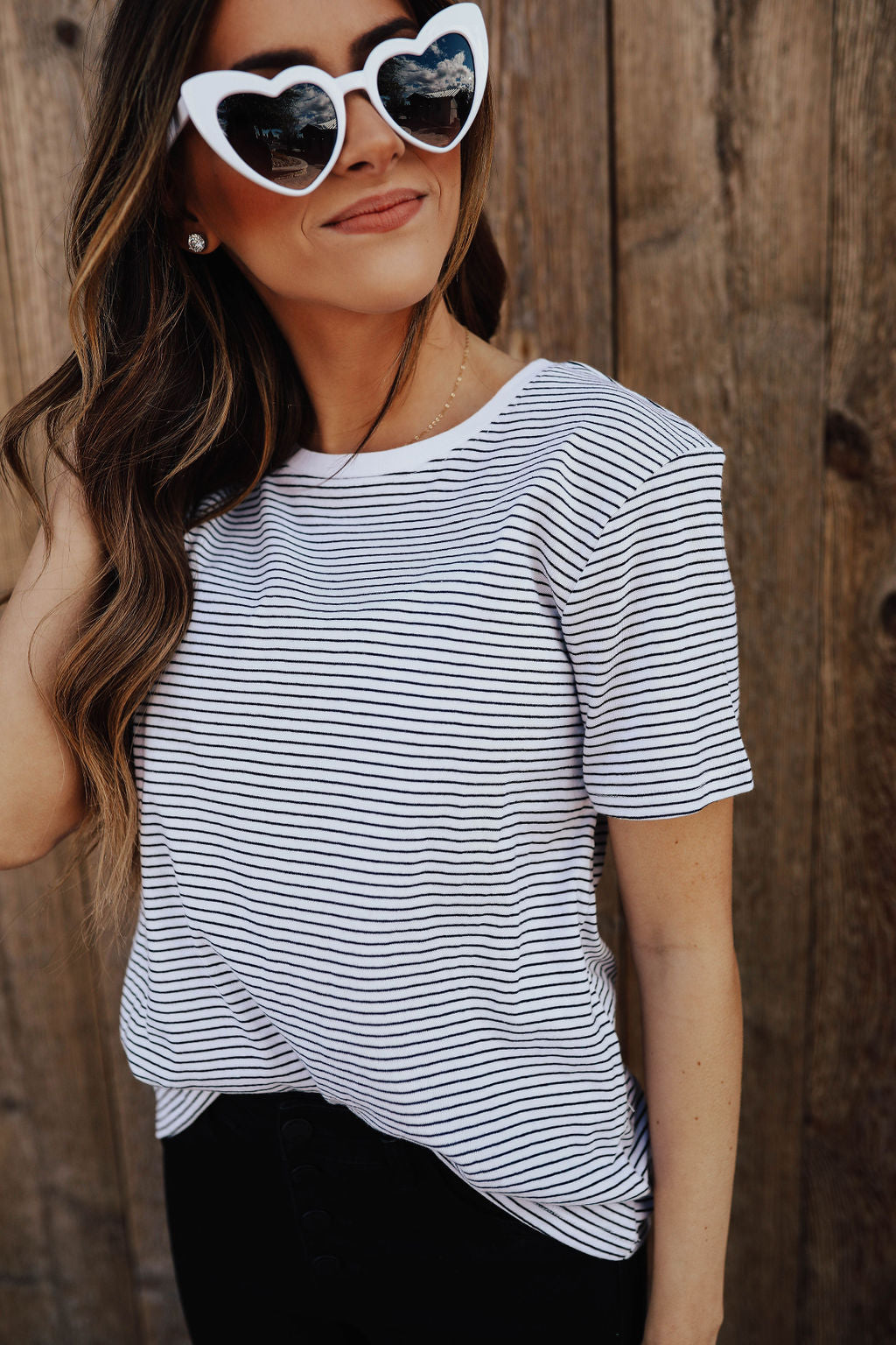 THE SAMMY STRIPED SHIRT IN WHITE